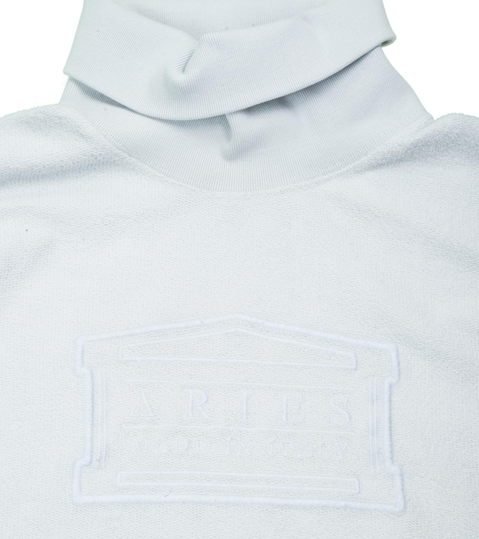 """Reverse Fleece Turtleneck Sweatshirt  """"Pale Blue""""-2"""