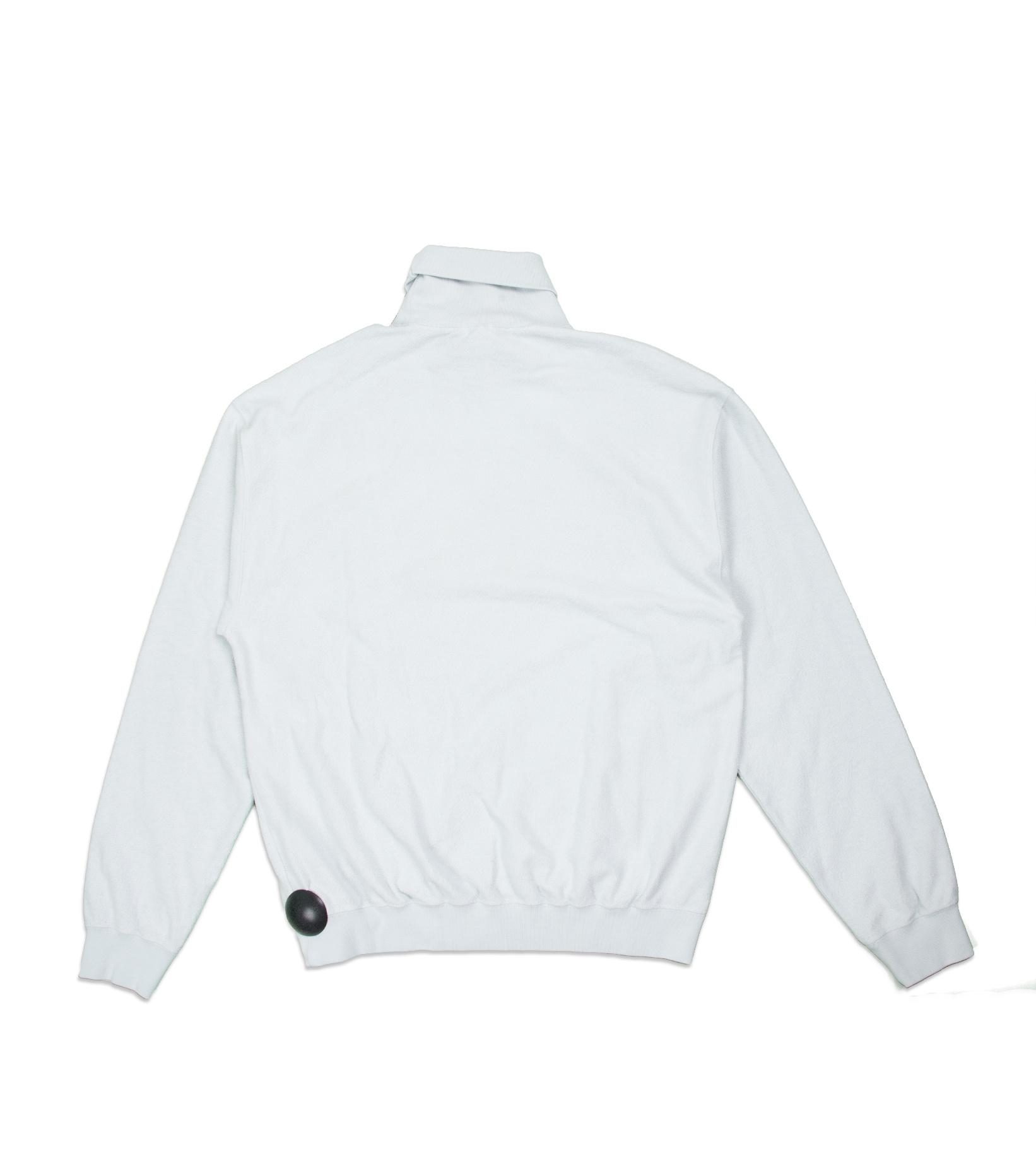 """Reverse Fleece Turtleneck Sweatshirt  """"Pale Blue""""-3"""