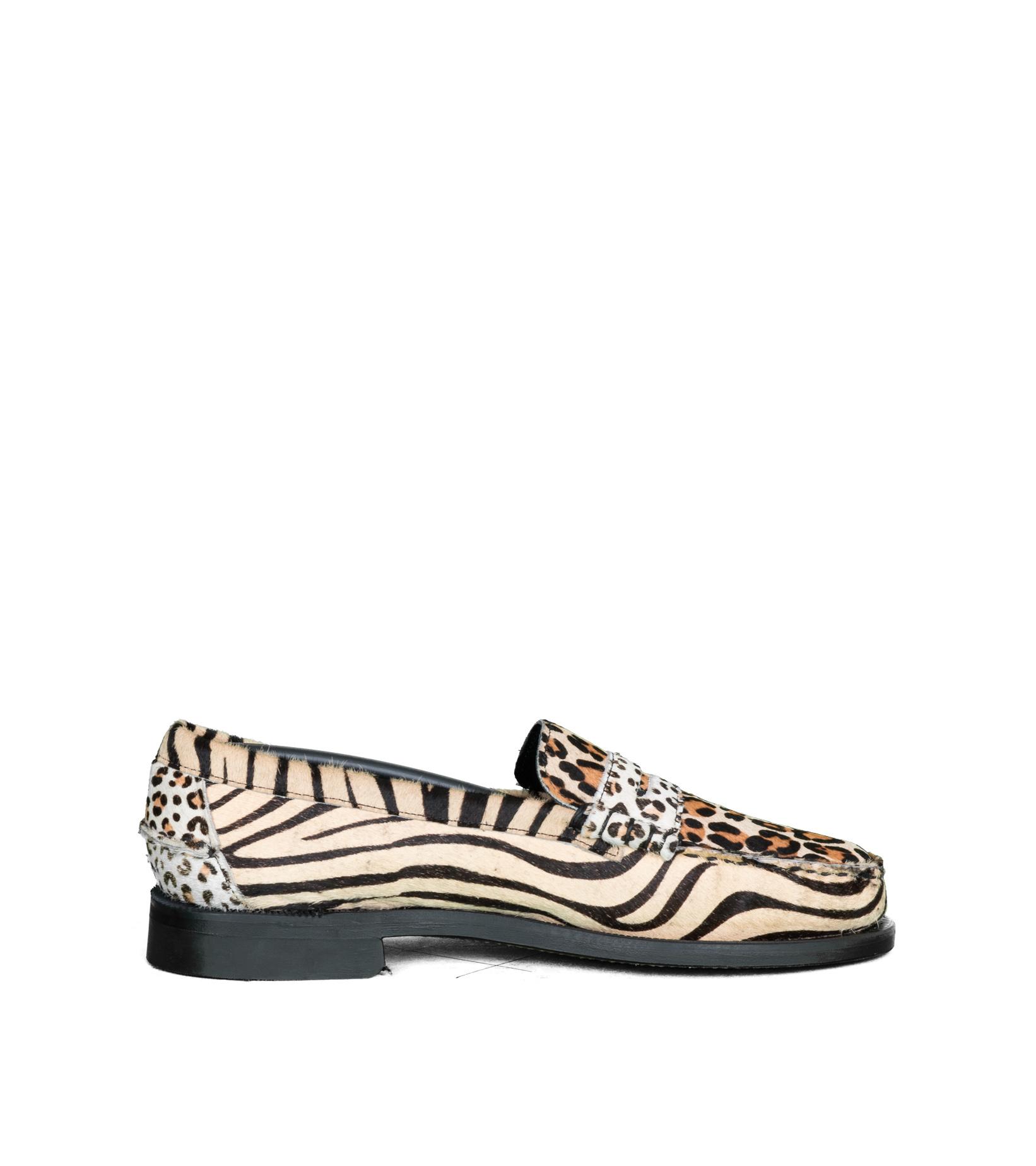 """Dan Wild Zoo Loafers """"Multi Fur""""-4"""
