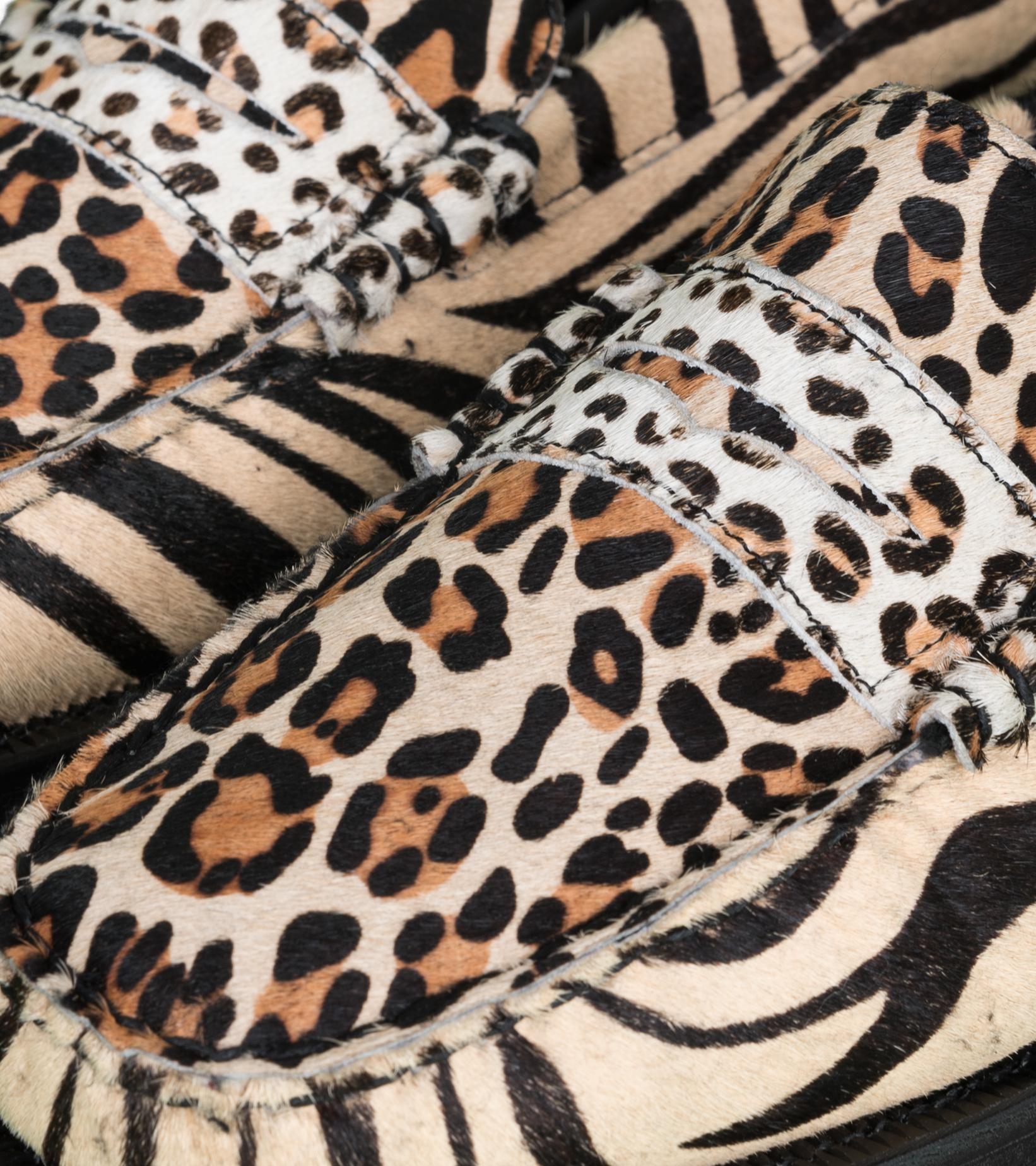 """Dan Wild Zoo Loafers """"Multi Fur""""-7"""
