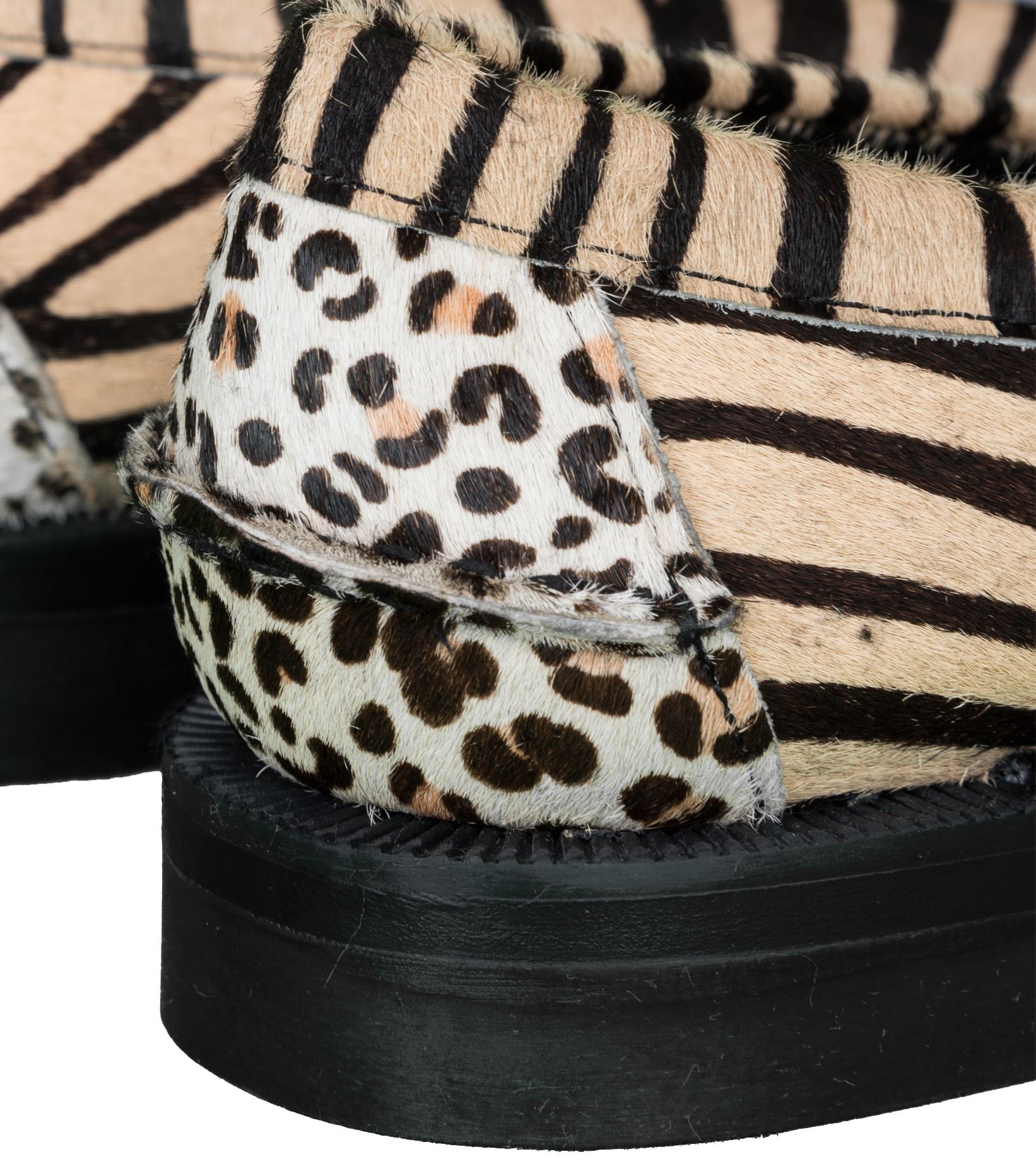 """Dan Wild Zoo Loafers """"Multi Fur""""-8"""
