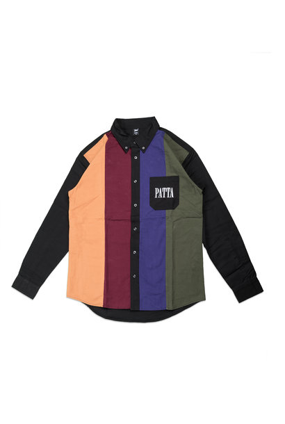 "Panelled Relaxed Shirt ""Multi"""