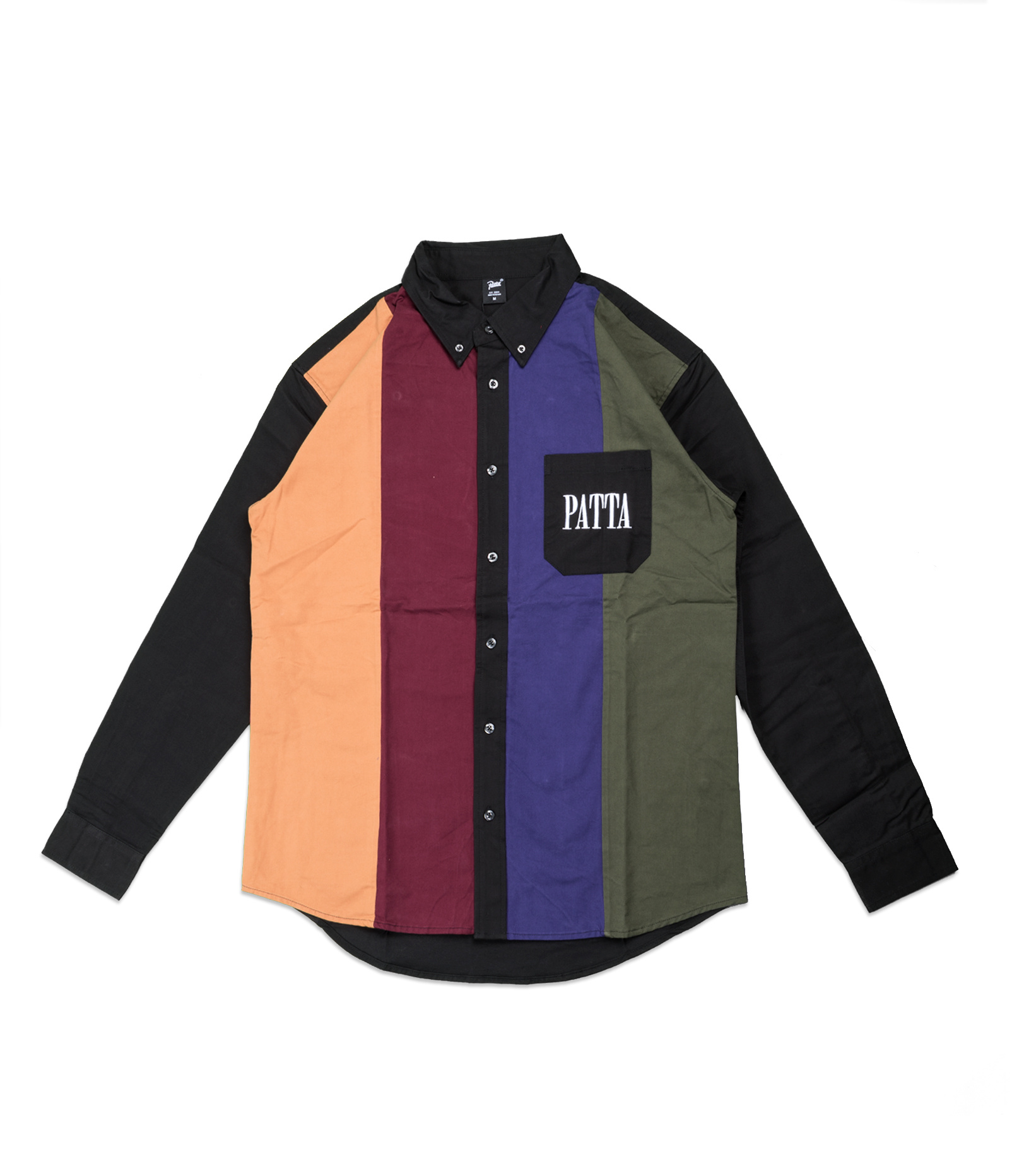 """Panelled Relaxed Shirt """"Multi""""-1"""