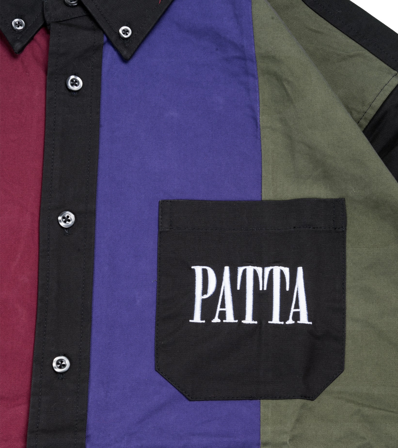 """Panelled Relaxed Shirt """"Multi""""-2"""