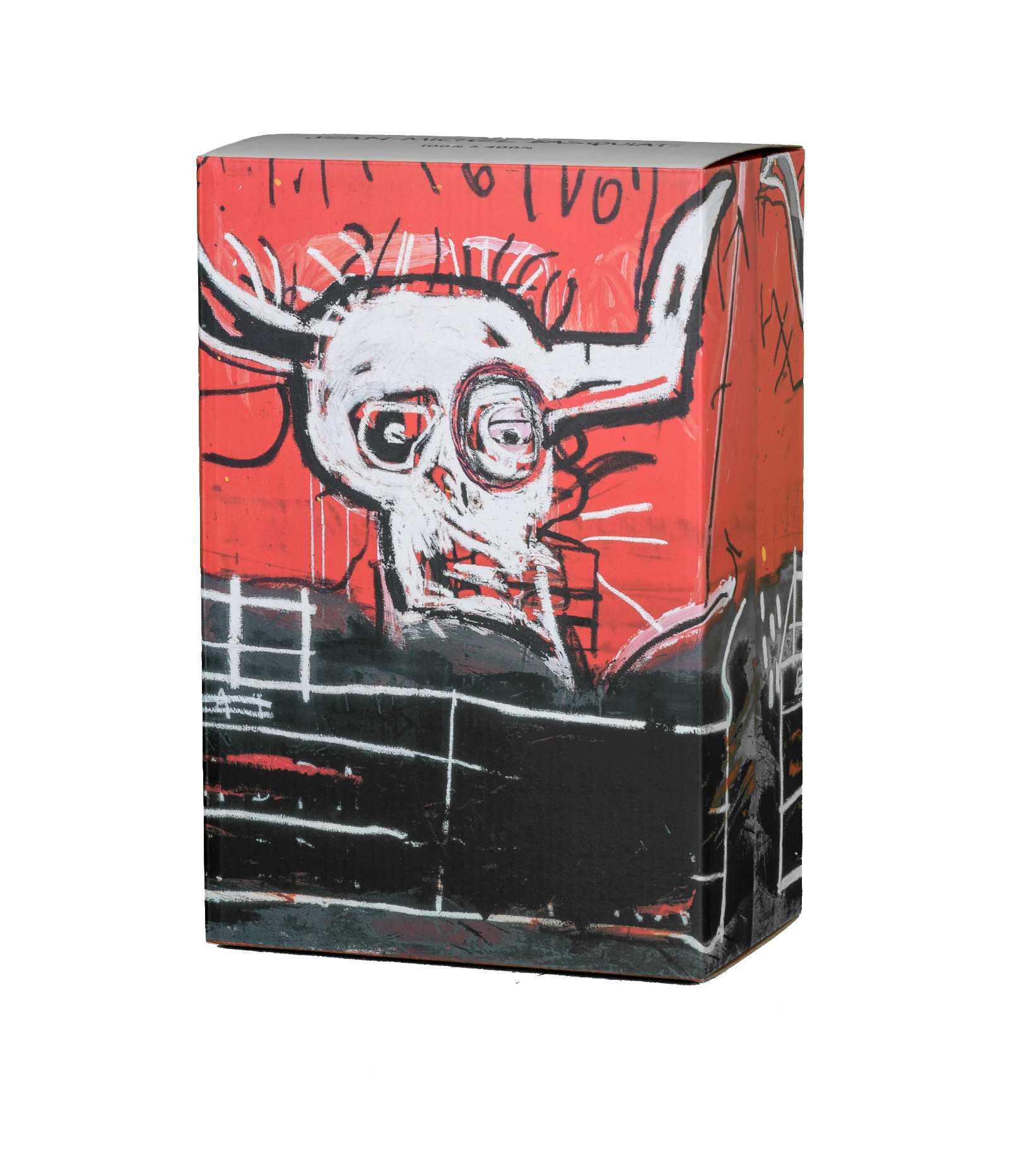 "Jean Michel Basquiat #5 100% & 400% Be@Rbrick ""Black/Red""-2"