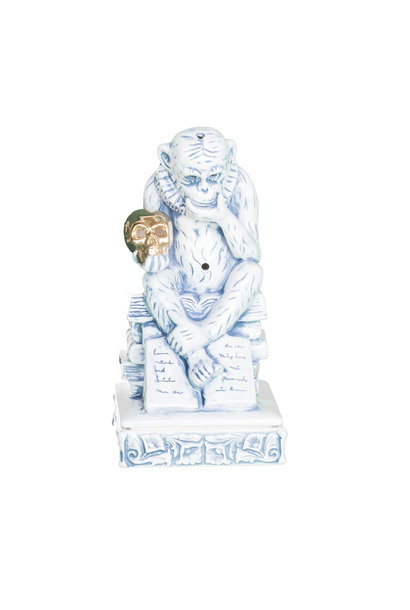 "Thinking Monkey Ceramic Incense Chamber ""Blue"""