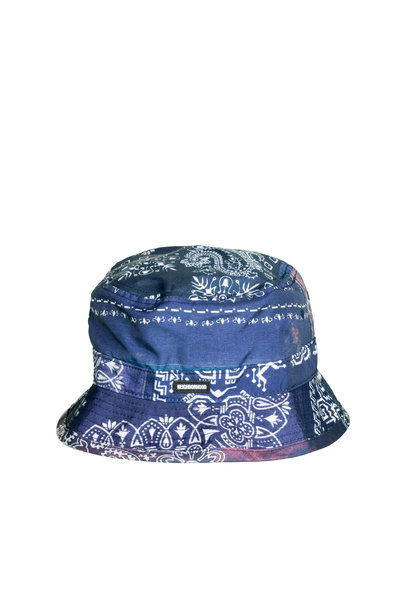 "Bandana Bucket Hat ""Navy"""