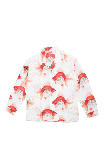 "Goldfish AOP Rayon Shirt ""White"""