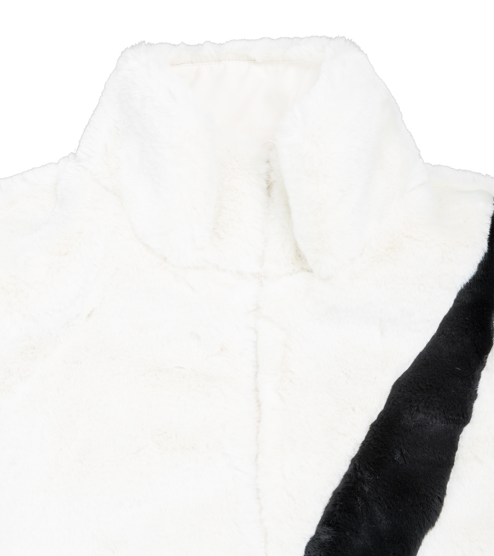 "Swoosh Faux Fur Jacket ""White/Fossil""-3"
