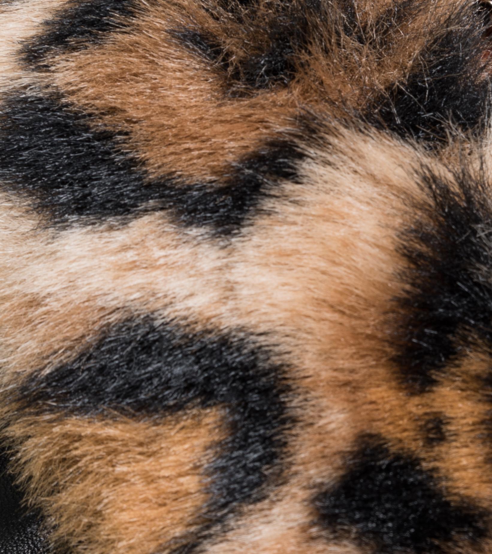 "50's  Mouton Collar Leather Jacket ""Black""-3"