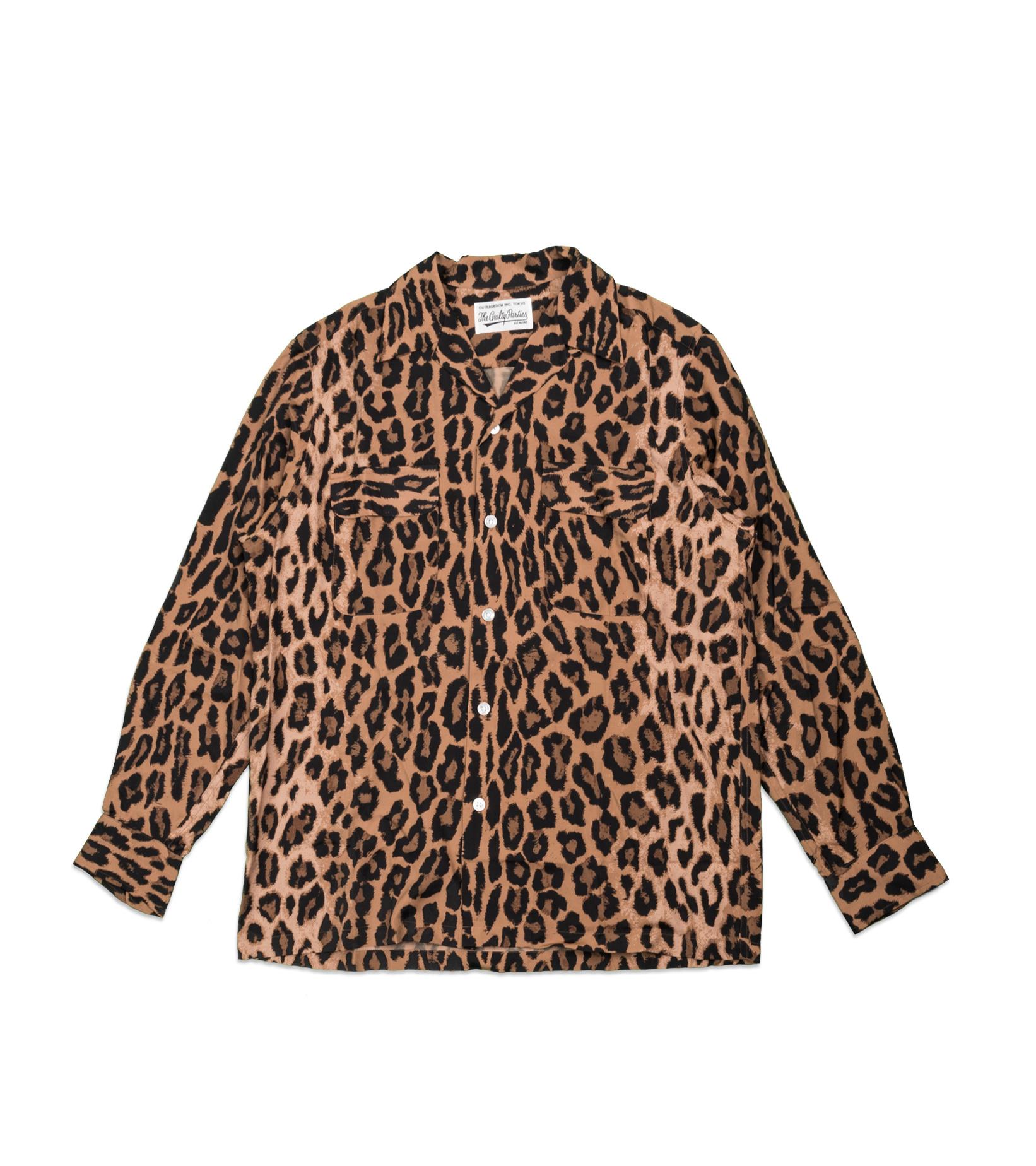 "Hawaiian Leopard Rayon Shirt ""Dark Brown""-1"