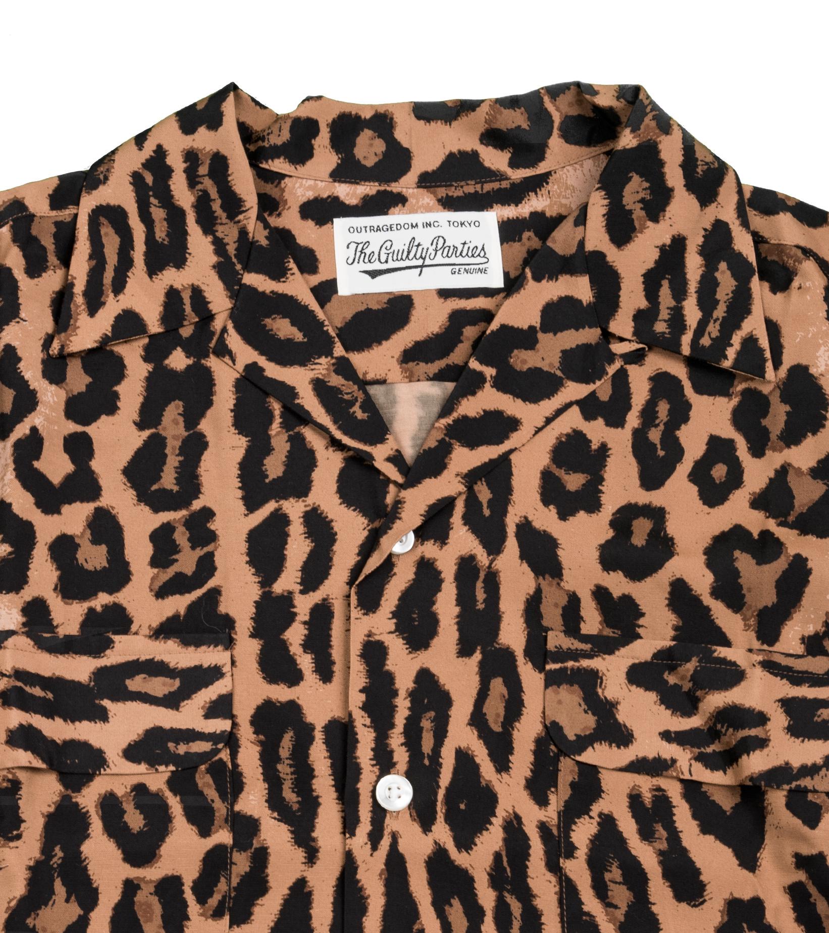 "Hawaiian Leopard Rayon Shirt ""Dark Brown""-2"