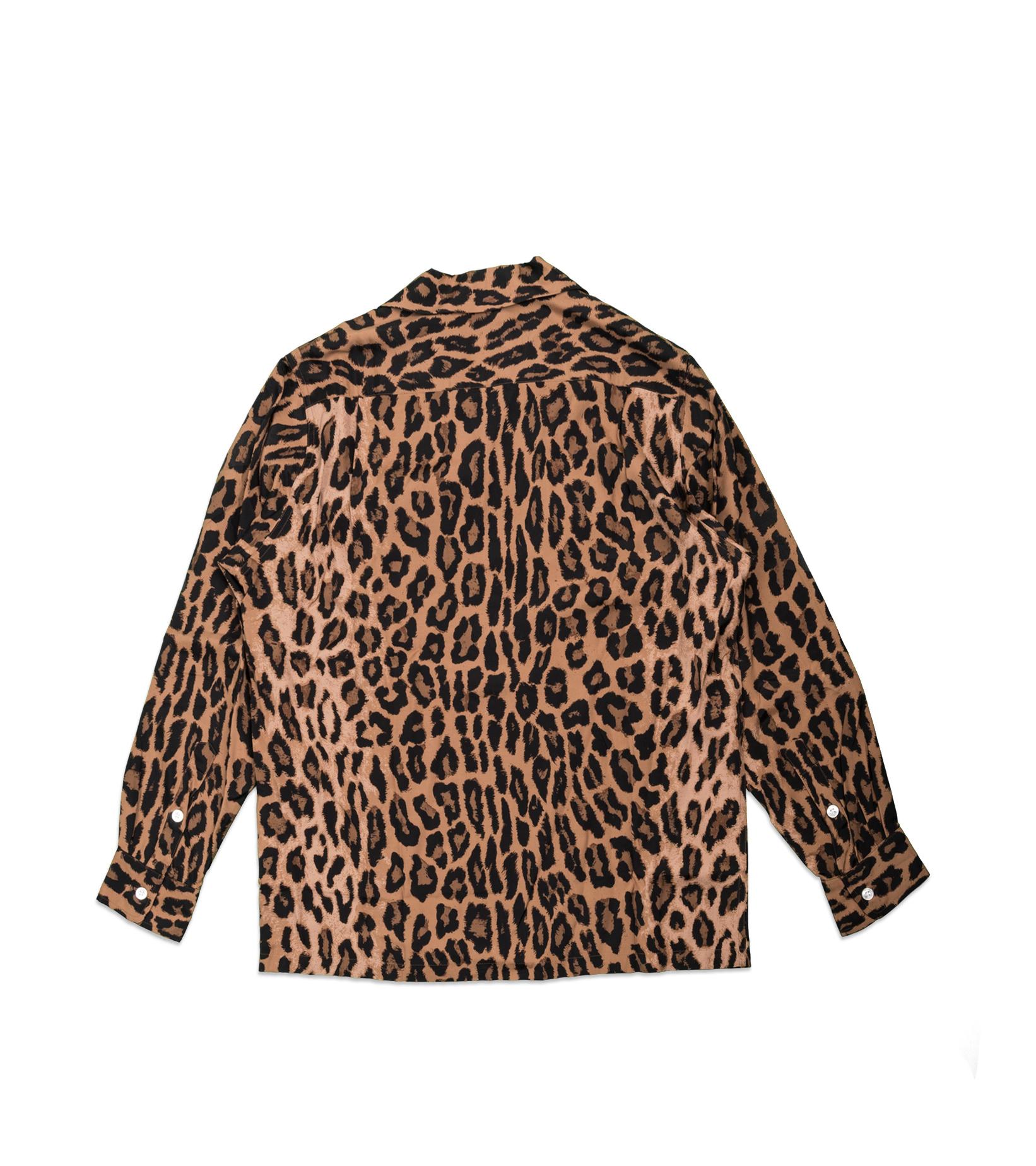 "Hawaiian Leopard Rayon Shirt ""Dark Brown""-4"