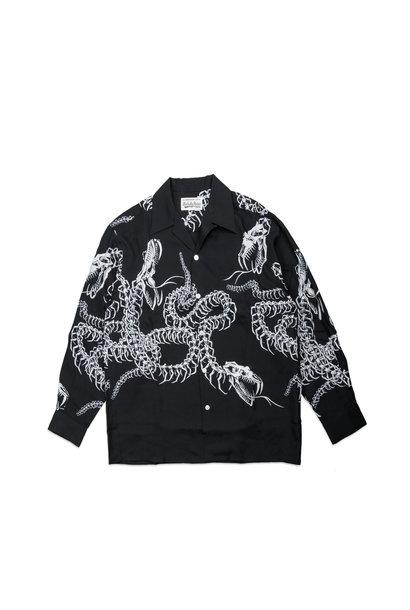 """Hawaiian Dragon Rayon Shirt """"Black"""""""