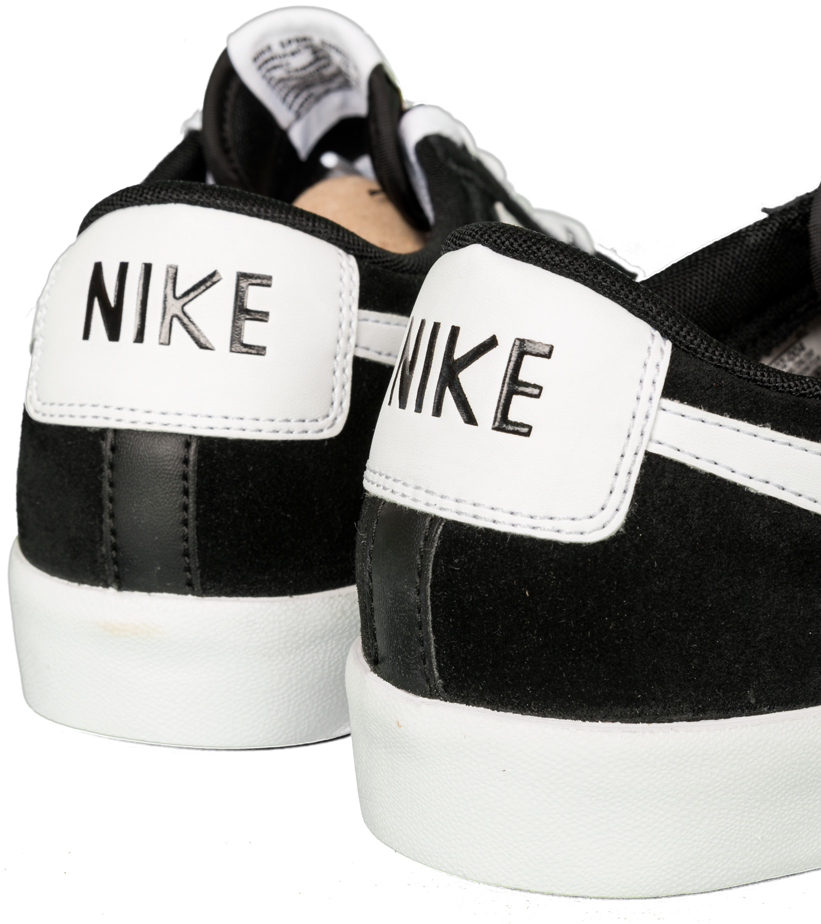 "Blazer Low Premium Vintage Suede ""Black/White""-6"
