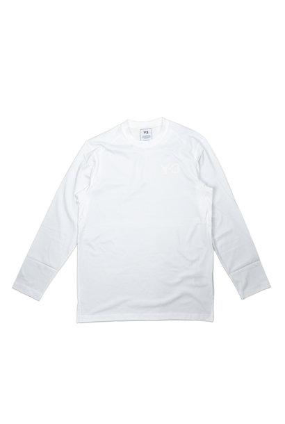 """Y-3 Chest Logo LS Tee """"White"""""""
