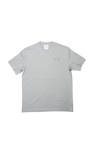 """Y-3 Chest Logo Tee """"Medium Grey Heather"""""""
