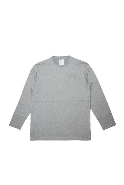 "Y-3 Chest Logo LS Tee ""Grey Heather"""