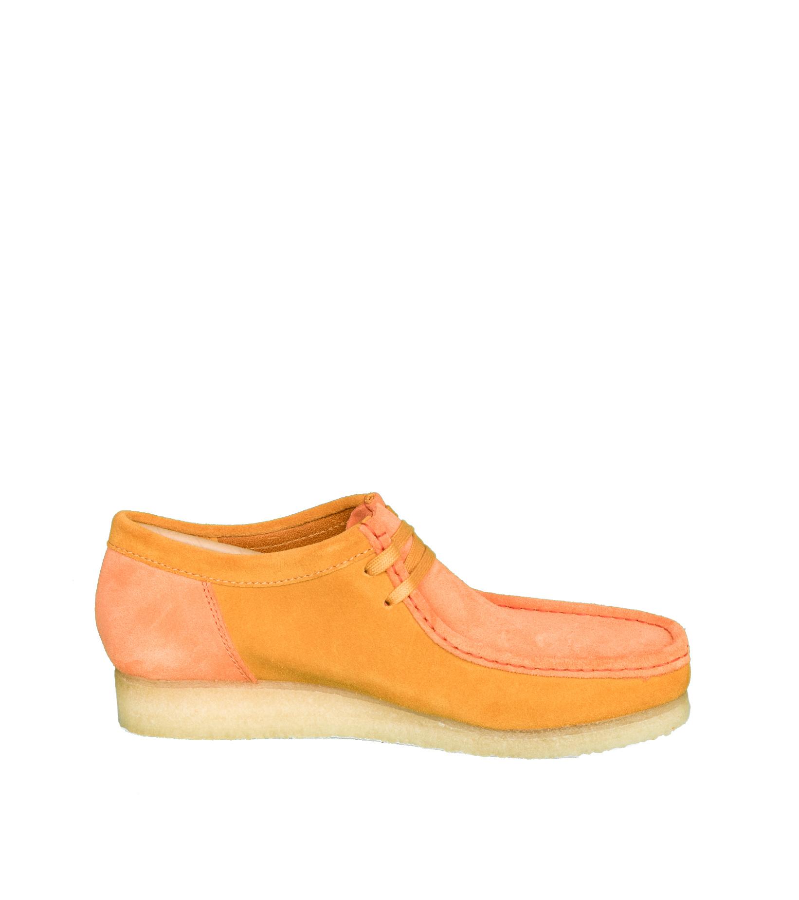 """Wallabee 2CLR """"Orange Combi""""-4"""