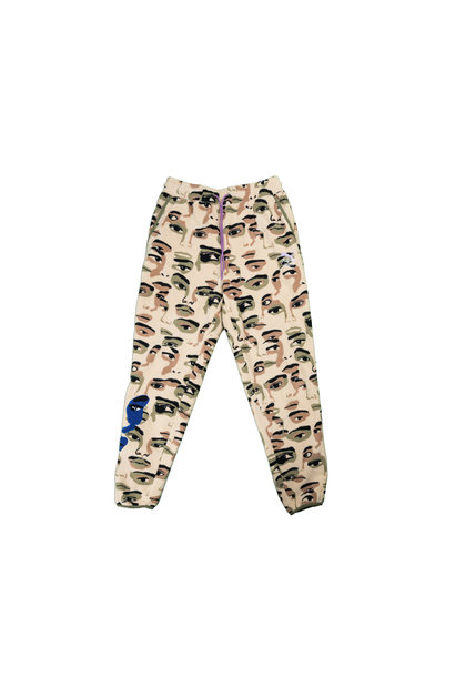 "AOP Fleece Pants x Kid Super ""Pale Khaki"""