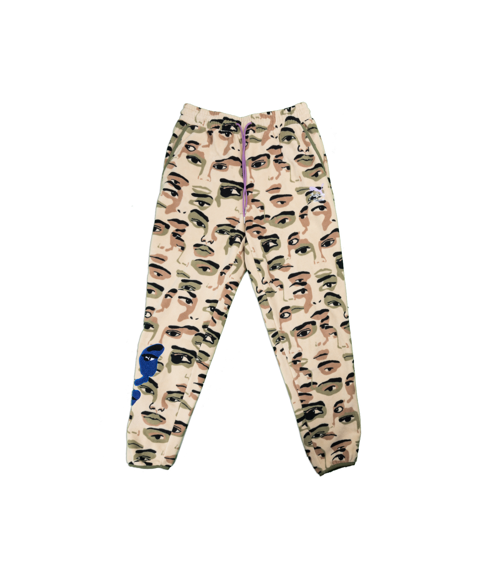 "AOP Fleece Pants x Kid Super ""Pale Khaki""-1"