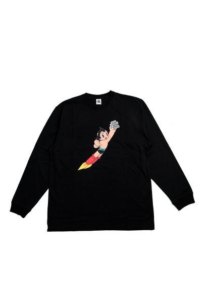 """Flying Astroboy LS Tee """"Black"""""""