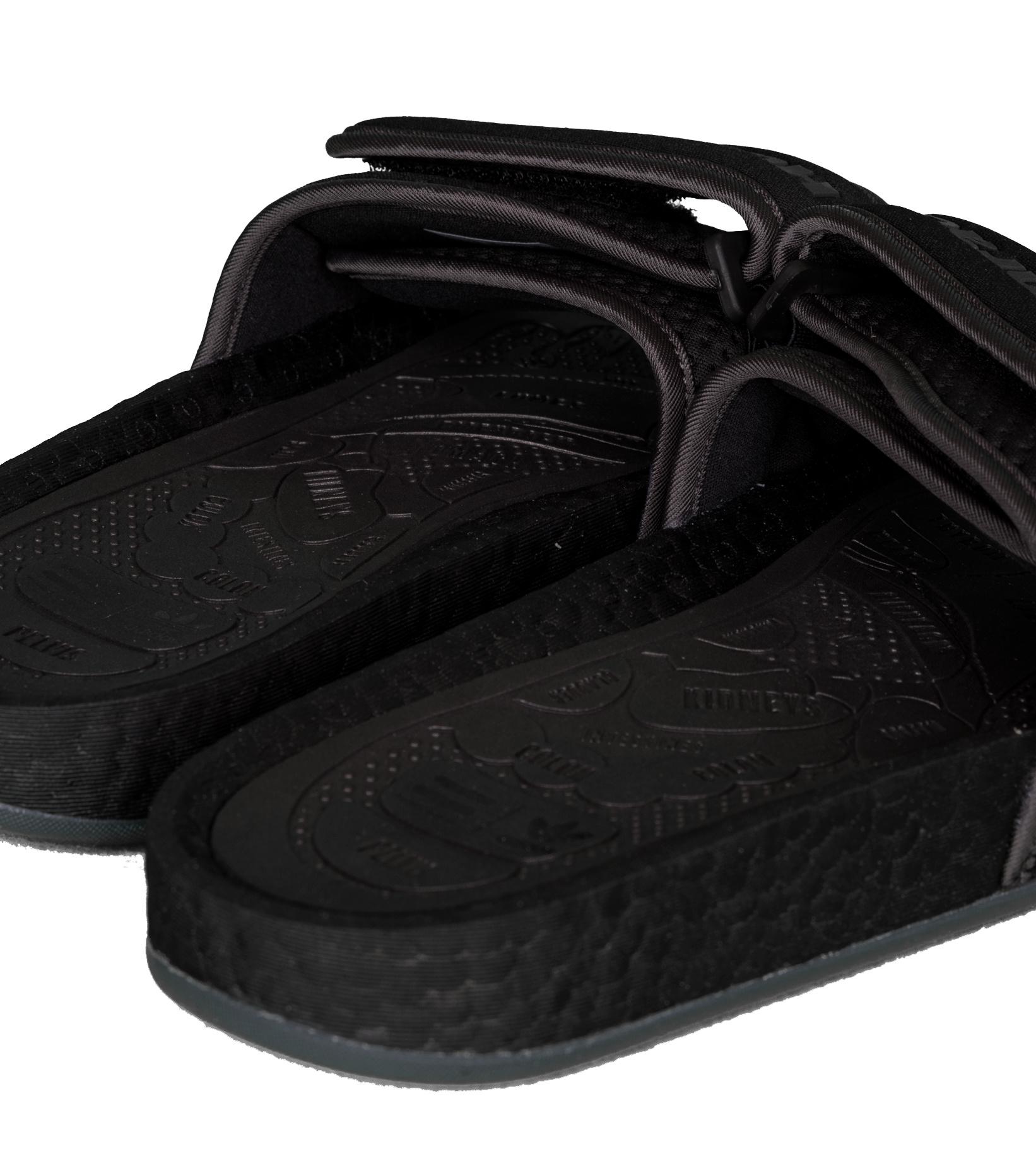 "PW Hu Boost Slides ""Triple Black""-6"