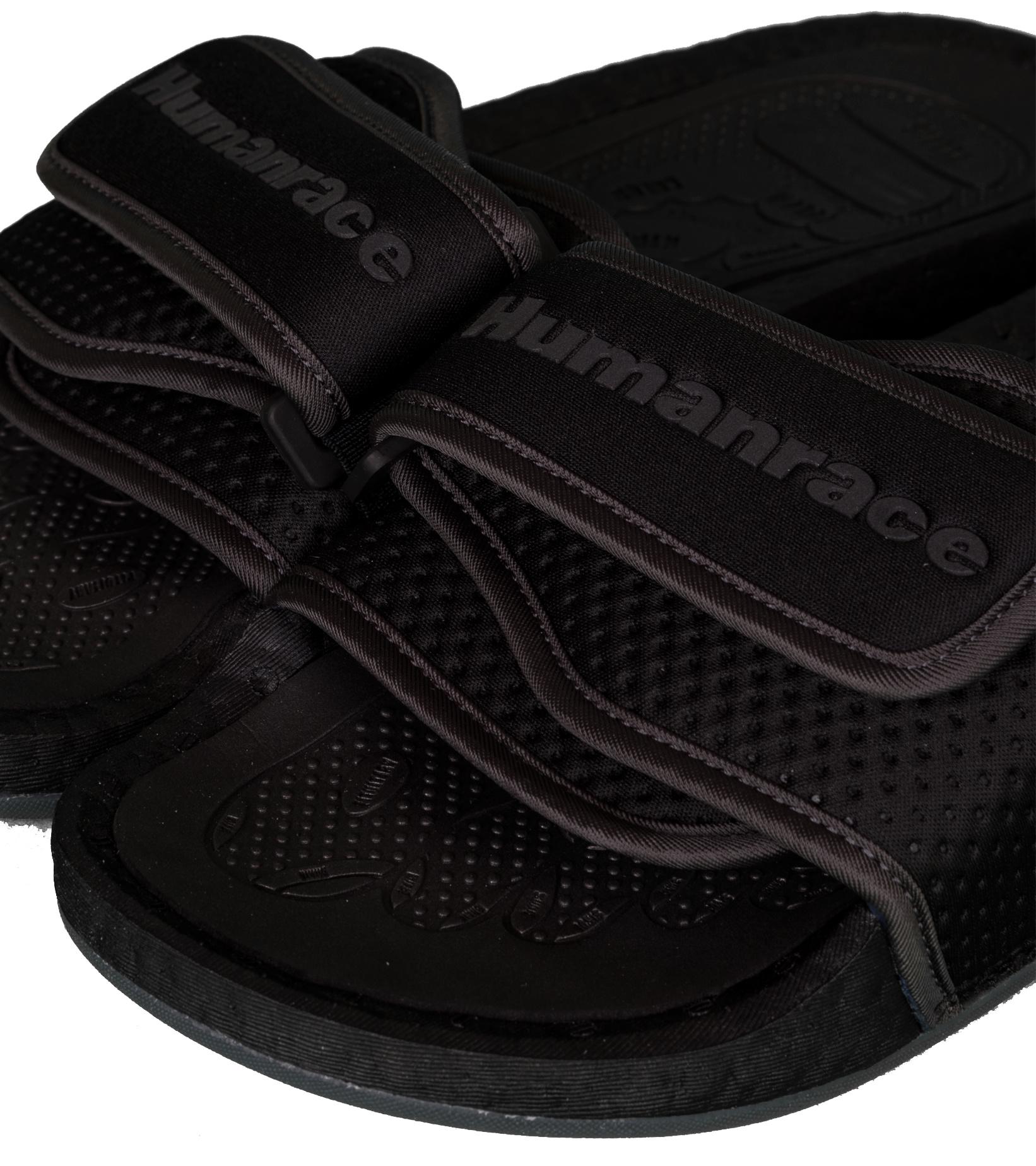 "PW Hu Boost Slides ""Triple Black""-7"