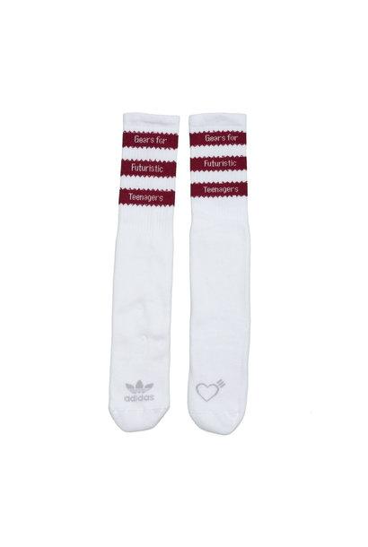 "Striped Socks x Human Made ""Burgundy"""