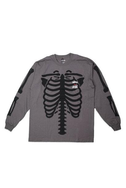 """Bones LS Tee """"Dark Grey"""""""