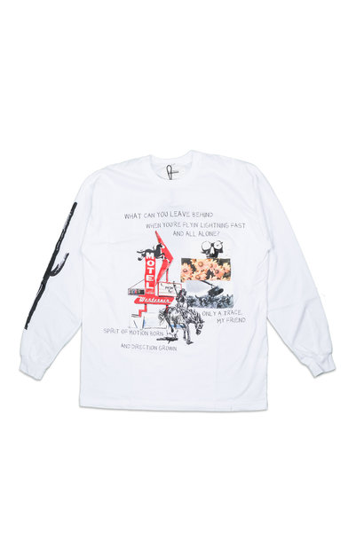 """Graphic LS Tee x One Of These Days """"White"""""""