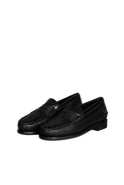 """Classic Dan Loafers """"Croco Black"""""""