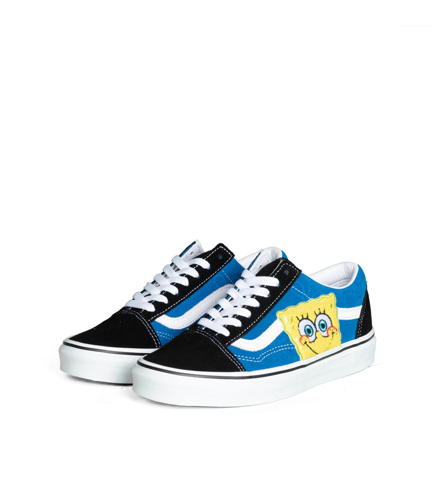 """Old Skool x Spongebob """"Black/Blue""""-1"""