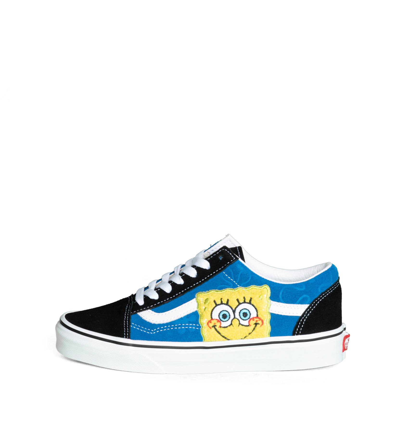 """Old Skool x Spongebob """"Black/Blue""""-3"""