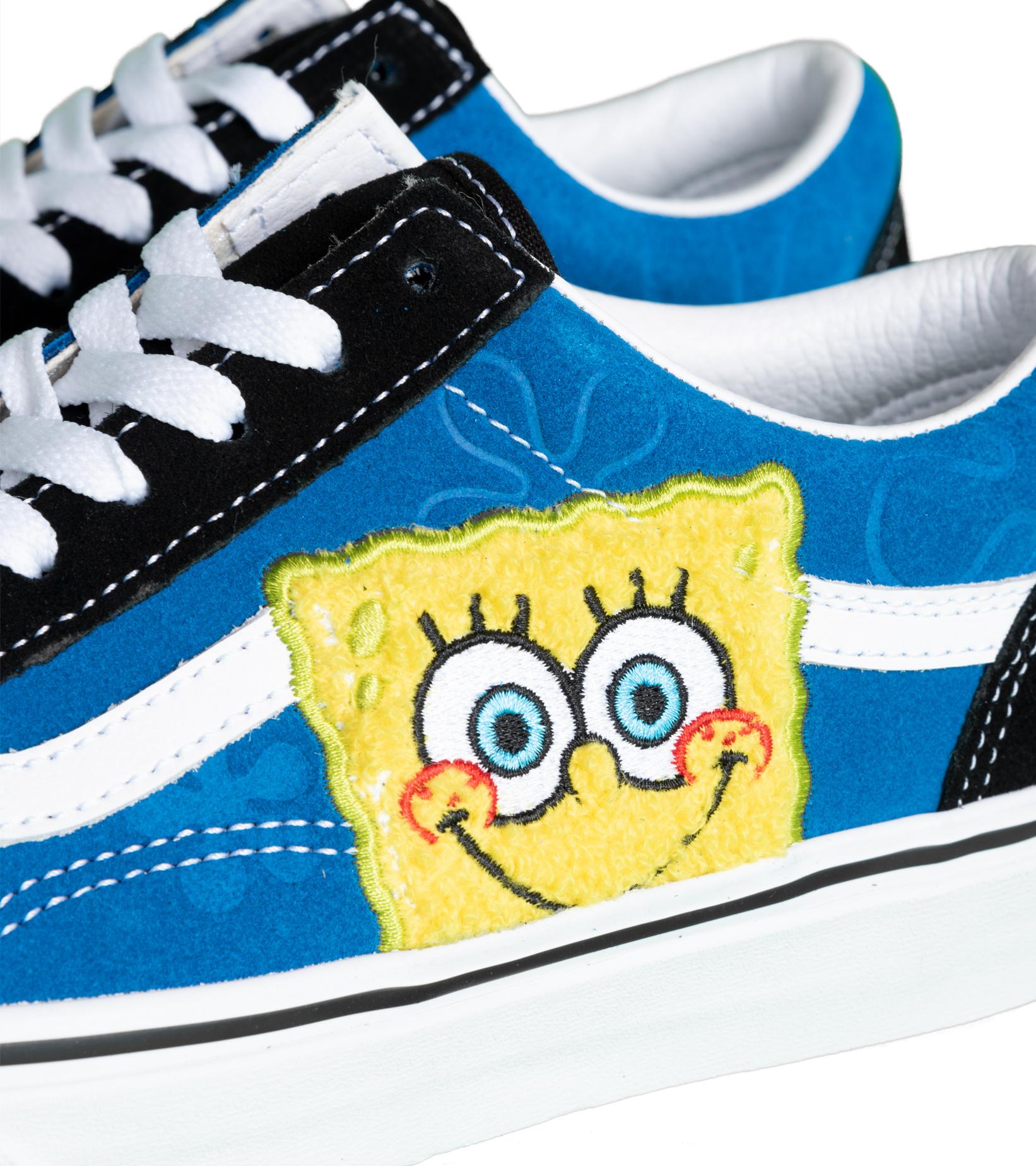 """Old Skool x Spongebob """"Black/Blue""""-6"""