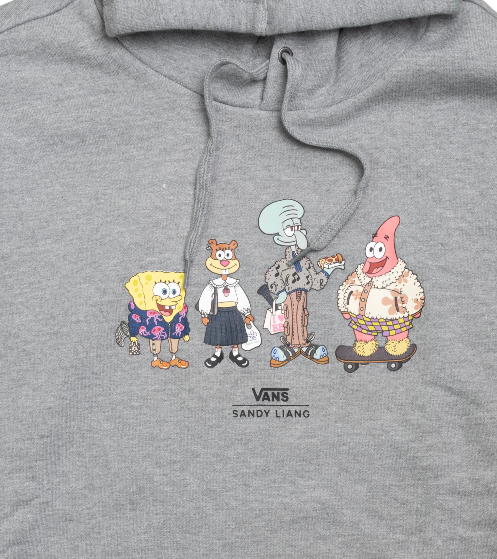 "Spongebob Sandy Liang Oversized Hoodie ""Grey Heather""-2"