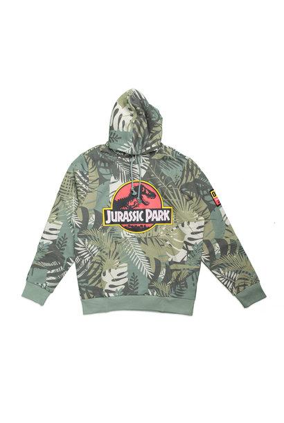 """AOP Jurassic Park Hoodie """"Vintage Green"""""""