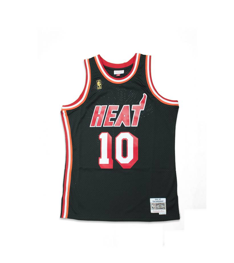 a9255b4be ... italy mitchell ness miami heat nba swingman jersey black 20107 da009