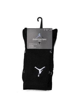 "Air Jordan Jumpman 3-Pack Crew Socks ""Black"""