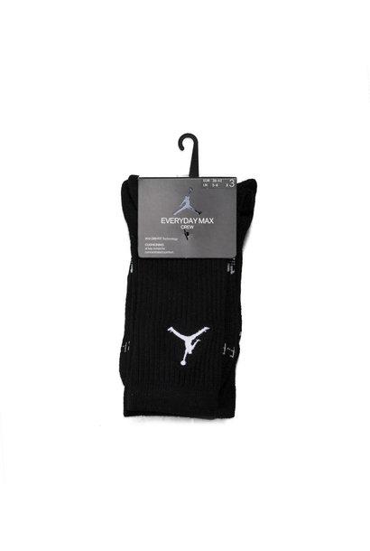 """Jumpman 3-Pack Crew Socks """"Black"""""""