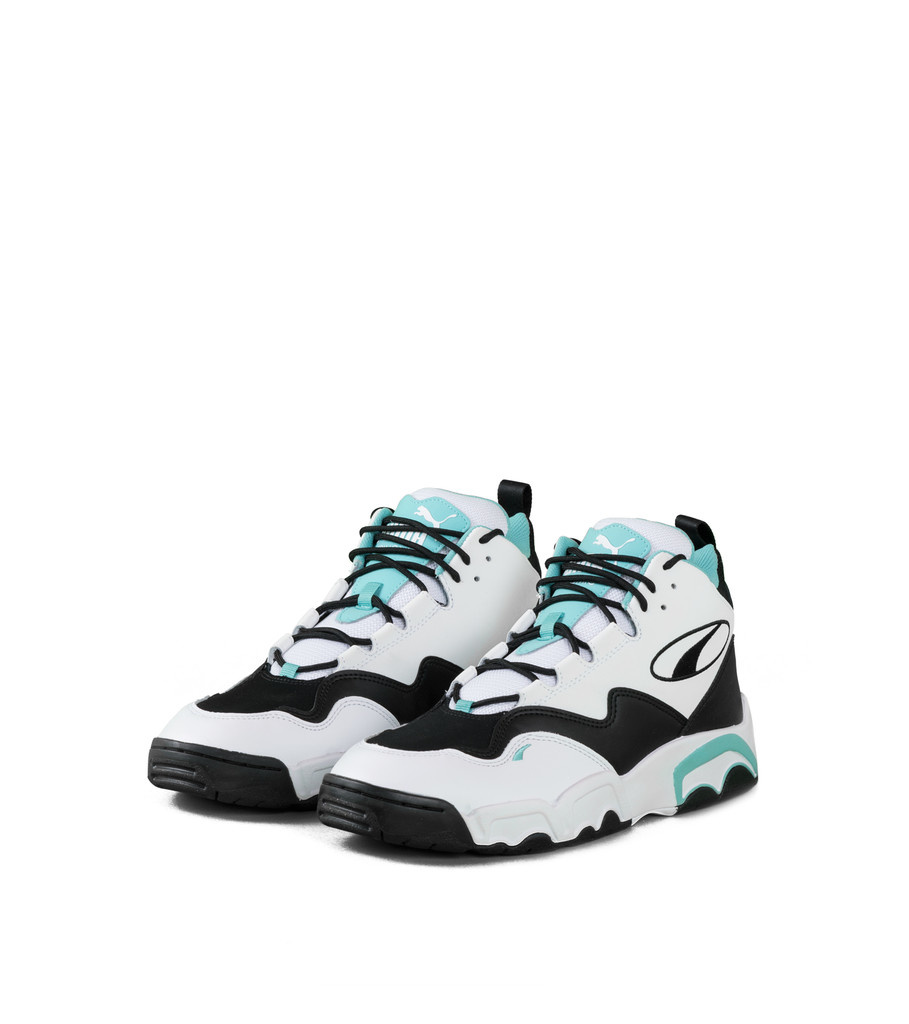 """Source Mid """"White/Teal""""-1"""