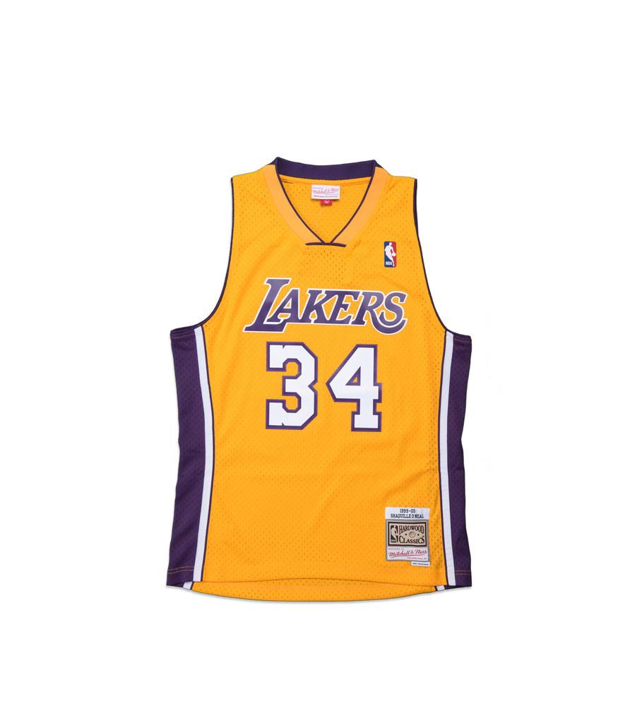 """Mitchell & Ness LA Lakers '99-'00 S. O'Neal Swingman Jersey """"Yellow"""""""