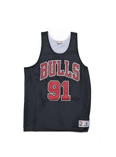 "Mitchell & Ness Chicago Bulls Rodman Reversible Mesh Tank ""Black/White"""