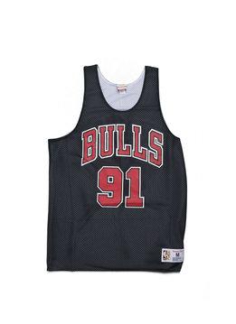 """Mitchell & Ness Chicago Bulls Rodman Reversible Mesh Tanktop """"Black/White"""""""