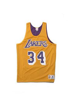 """Mitchell & Ness LA Lakers O'Neal Reversible Mesh Tank """"Yellow/Purple"""""""