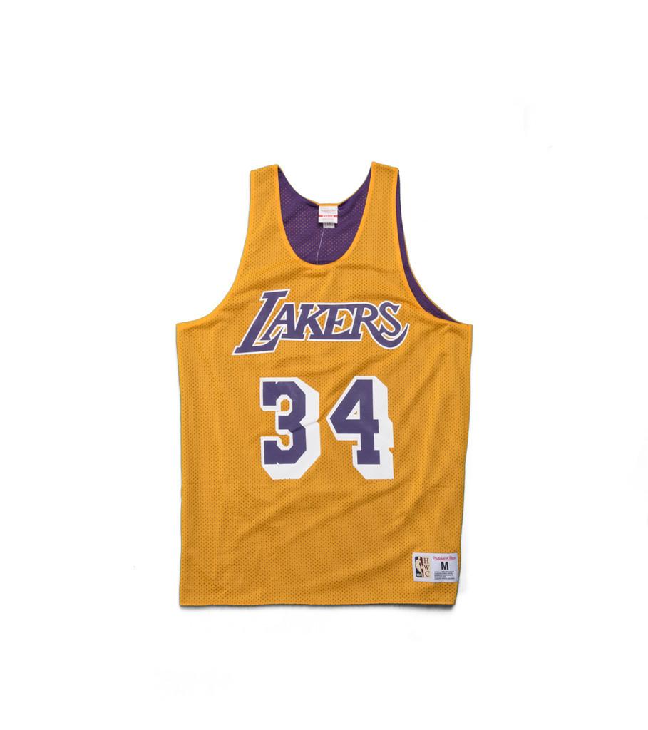 "Mitchell & Ness LA Lakers O'Neal Reversible Mesh Tanktop ""Yellow/Purple"""