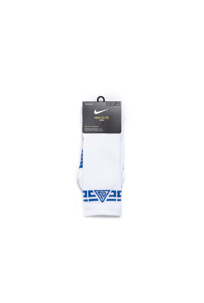 "Giannis Elite Crew Socks ""White/Game Royal"""