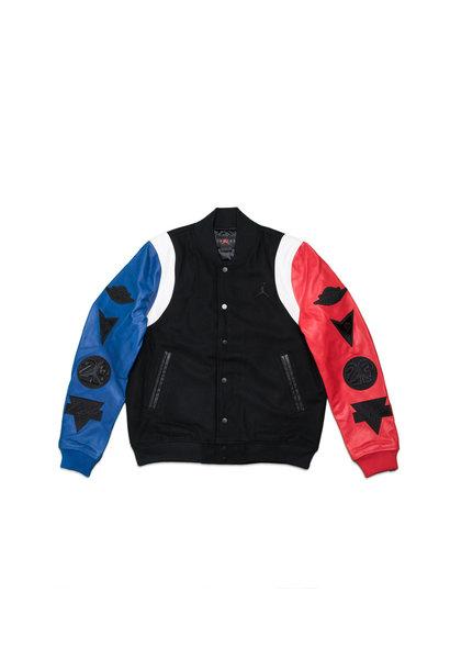 "DNA Varsity Jacket ""Black/Rush Blue"""