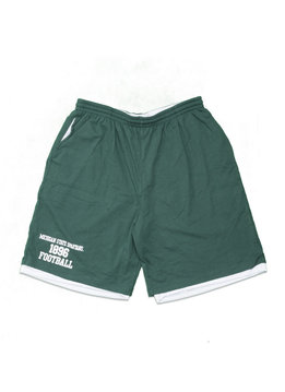 "Mitchell & Ness Michigan State Spartans 1896 Football Cotton/Mesh Short ""Green"""