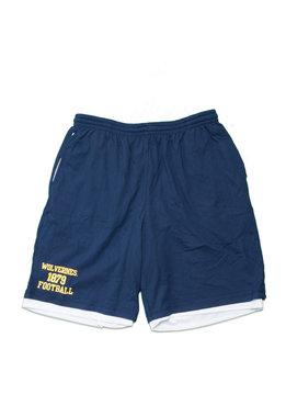 "Mitchell & Ness Michigan Wolverines 1879 Football Cotton/Mesh Short ""Navy"""